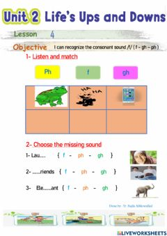 Interactive worksheet Life ups and downs