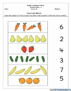 Ficha interactiva Count and Match