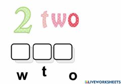 Interactive worksheet Number name practice 2