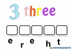 Interactive worksheet Number name practice 3