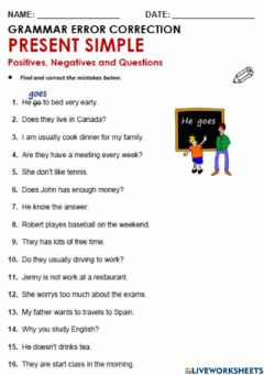 Interactive worksheet English Exercise Present Simple