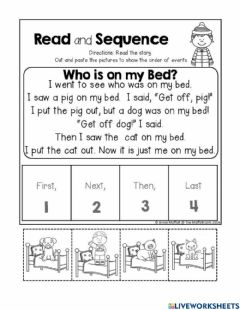 Interactive worksheet Reading Sequency