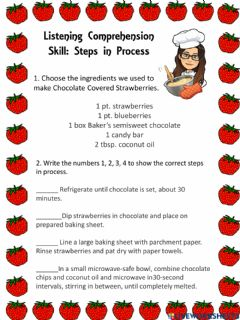 Interactive worksheet Steps in process
