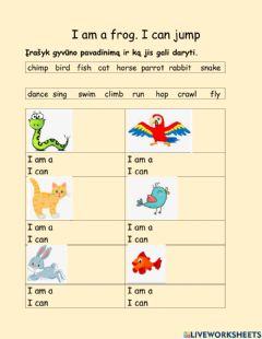 Interactive worksheet Animals can