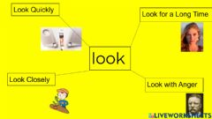 Interactive worksheet Synonyms for Look