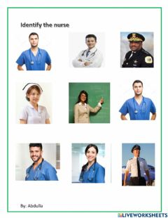 Interactive worksheet Identify nurse