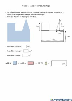 Interactive worksheet Area of Compound Shape