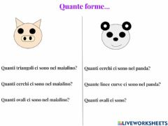 Interactive worksheet Quante forme...