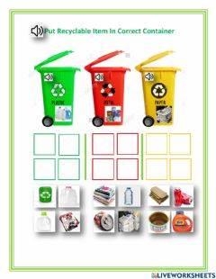 Ficha interactiva Recycle 2 - everyone