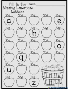Interactive worksheet Fill in the missing letters