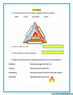 Interactive worksheet Fire safety