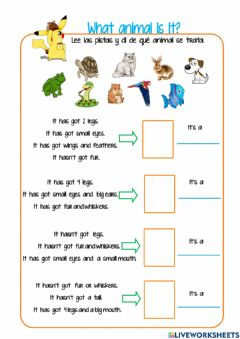 Interactive worksheet What animal is it?