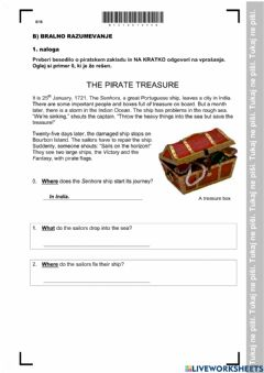 Interactive worksheet NPZ 2018 reading comprehension part 1