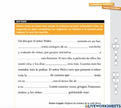 Interactive worksheet Dictado competencias básicas