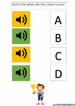 Interactive worksheet ABCD sounds