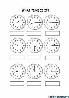 Interactive worksheet 4. Time