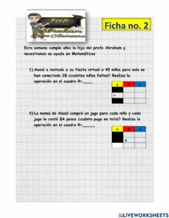 Interactive worksheet Reparto