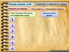 Interactive worksheet Полліанна