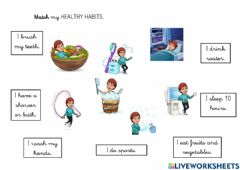 Interactive worksheet My healthy habits