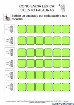 Interactive worksheet Contar palabras 2