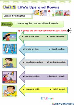 Interactive worksheet Past tens
