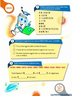 Interactive worksheet Sicurezza su internet