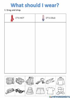 Interactive worksheet What should I wear?