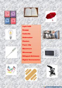 Interactive worksheet Inventions