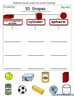 Interactive worksheet 3D Shapes Tree Map 1