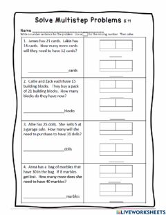 Interactive worksheet Math