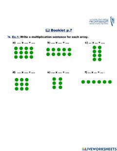 Interactive worksheet Multiplication with arrays