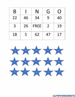 Ficha interactiva Subtraction with regrouping BINGO Card 1