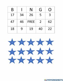 Ficha interactiva Subtraction with regrouping BINGO Card 3