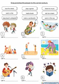 Interactive worksheet Unit 9:At the Beach (1)