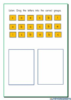 Interactive worksheet -b- and -c-