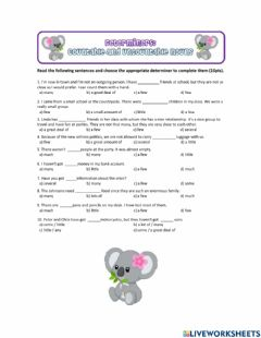 Ficha interactiva Determiners (countable and uncountable)