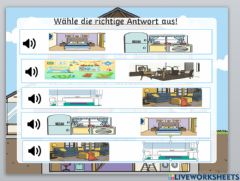 Interactive worksheet Mein Haus