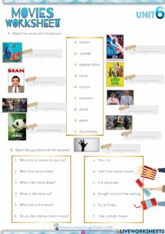 Interactive worksheet 5.6 Movies