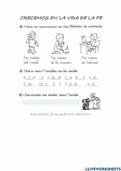 Interactive worksheet Crecemos en la fe