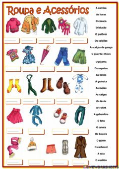 Interactive worksheet Vocabulário Vestuário
