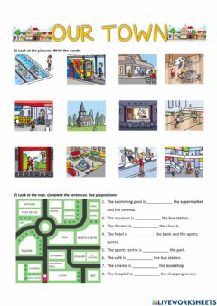 Interactive worksheet Our town