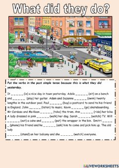 Interactive worksheet Verbs in past tense