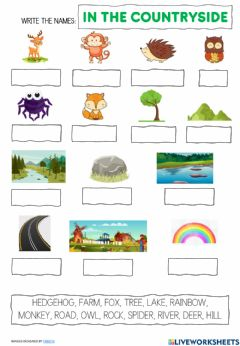 Interactive worksheet In the countryside vocabulary 2