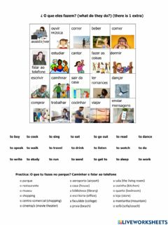 Interactive worksheet Portuguese for Beginners