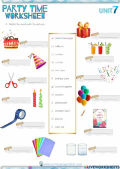 Interactive worksheet 5.7 party time