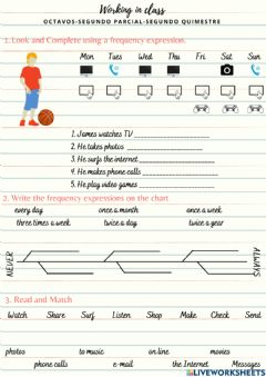 Interactive worksheet Octavo Frequency Expressions
