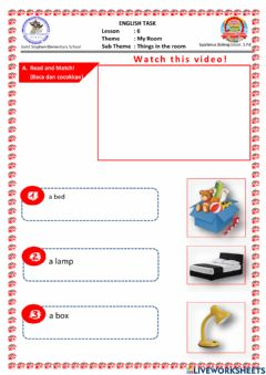 Interactive worksheet Tugas Online for Second Grade