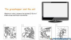 Interactive worksheet The ant and the grasshopper
