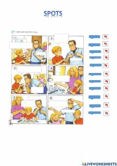 Interactive worksheet Happy House 2 - Spots - listening