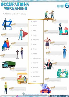 Interactive worksheet 6.6 Occupations